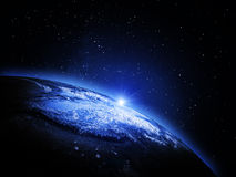 La terre de l'espace Image stock