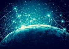 La terre de l'espace Le meilleur concept d'Internet des affaires globales de série de concepts Éléments de cette image meublés pa Photographie stock