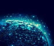 La terre de l'espace Le meilleur concept d'Internet des affaires globales de série de concepts Éléments de cette image meublés pa Photo libre de droits