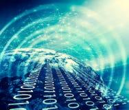 La terre de l'espace Le meilleur concept d'Internet des affaires globales de série de concepts Éléments de cette image meublés pa Images libres de droits