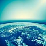 La terre de l'espace Le meilleur concept d'Internet des affaires globales de série de concepts Éléments de cette image meublés pa Image stock