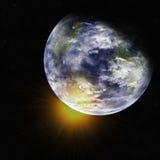 La terre de l'espace. Éléments de cette image meublés par la NASA. Photo libre de droits