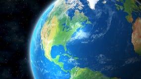 La terre de la vue de l'espace de l'Amérique du Nord Images libres de droits