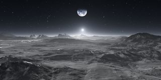 La terre de la lune illustration stock