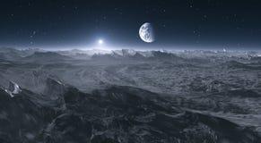La terre de la lune illustration de vecteur