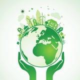 La terre de mains Image libre de droits