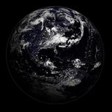 La terre de nuit - l'Europe/Asie/Afri photo stock