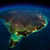 La terre de nuit. Une partie d'Australie. La Tasmanie illustration stock