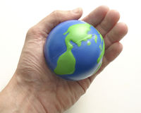 La terre de paume Photo libre de droits