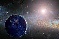 La terre de planète, éléments de cette image meublés par la NASA Concept Image stock