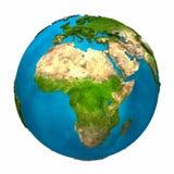 La terre de planète - Afrique Photos stock