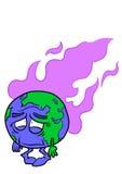 La terre de planète avec des vapeurs illustration de vecteur