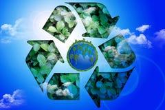 La terre de planète avec réutilisent photos stock