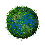 La terre de planète couverte de feuilles Globe d'Eco Photos libres de droits