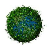 La terre de planète couverte de feuilles Globe d'Eco Images stock