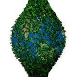 La terre de planète couverte de feuilles Globe d'Eco Photographie stock