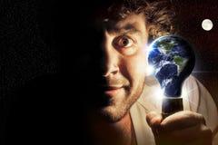 La terre de planète d'ampoule Photographie stock libre de droits