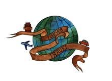 La terre de planète d'aquarelle illustration libre de droits
