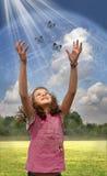 la terre de planète d'enfant Image libre de droits
