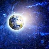 La terre de planète dans l'espace Photos libres de droits
