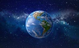 La terre de planète dans l'espace extra-atmosphérique illustration stock