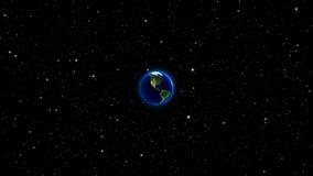 La terre de planète dans l'univers ou l'espace, la terre et la galaxie dans une nébuleuse opacifie Image libre de droits