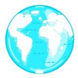 La terre de planète dans le style plat illustration stock