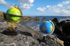 La terre de planète de globes de vintage Photographie stock libre de droits