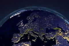 La terre de planète de l'espace montrant l'Europe illustration stock