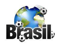 La terre de planète du Brésil du football Images stock