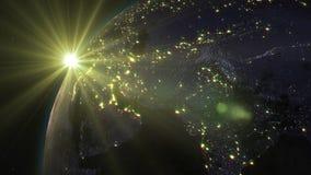 la terre de planète du rendu 3D de l'espace sur le fond illustration de vecteur