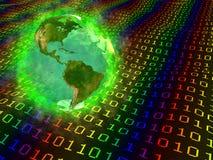 La terre de planète et données digitales - Amérique Photos stock