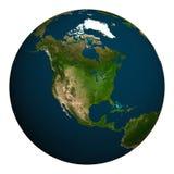 La terre de planète l'Amérique du Nord Images libres de droits