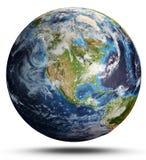La terre de planète de l'espace rendu 3d images stock