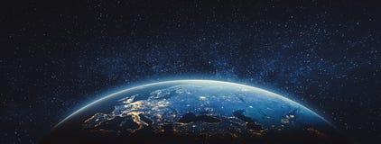 La terre de planète - l'Europe Éléments de cette image meublés par la NASA illustration libre de droits