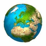 La terre de planète - l'Europe Images libres de droits