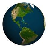 La terre de planète Nord et l'Amérique du Sud Photographie stock