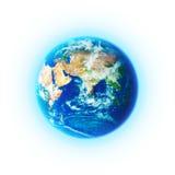 La terre de planète sur le fond blanc Photo libre de droits