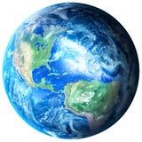 La terre de planète sur le fond transparent image libre de droits