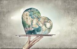 La terre de planète sur le plateau Photos stock