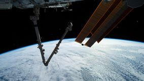 La terre de plan?te vue de l'ISS Exploration d'espace de la terre de plan?te la nuit ?l?ments de cette vid?o meubl?e par la NASA banque de vidéos