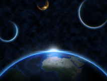 La terre de planète dans l'espace Photographie stock libre de droits