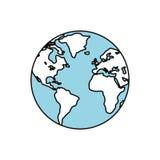 La terre du monde d'isolement Photo stock