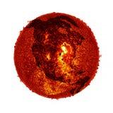 La terre du soleil de réchauffement global - éléments d'image meublés par la NASA Image libre de droits