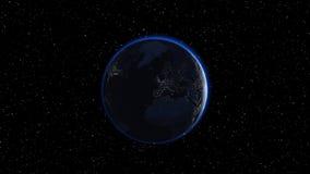 La terre en ciel nocturne Photo libre de droits