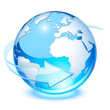 La terre en cristal Images libres de droits