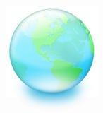 La terre en cristal Photo libre de droits