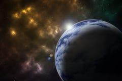 La terre en fond/terre de l'espace en espace/terre à l'arrière-plan d'abrégé sur l'espace Images libres de droits