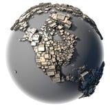 La terre en métal - la structure de bloc Image stock