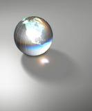 La terre en verre transparente de globe illustration stock